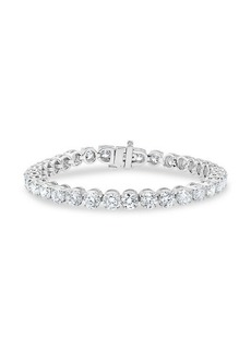 Badgley Mischka 14K White Gold & 10 TCW Lab-Grown Tennis Bracelet
