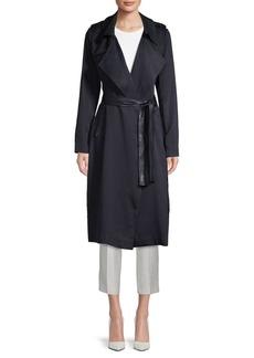 Badgley Mischka Angelina Solid Trench Coat