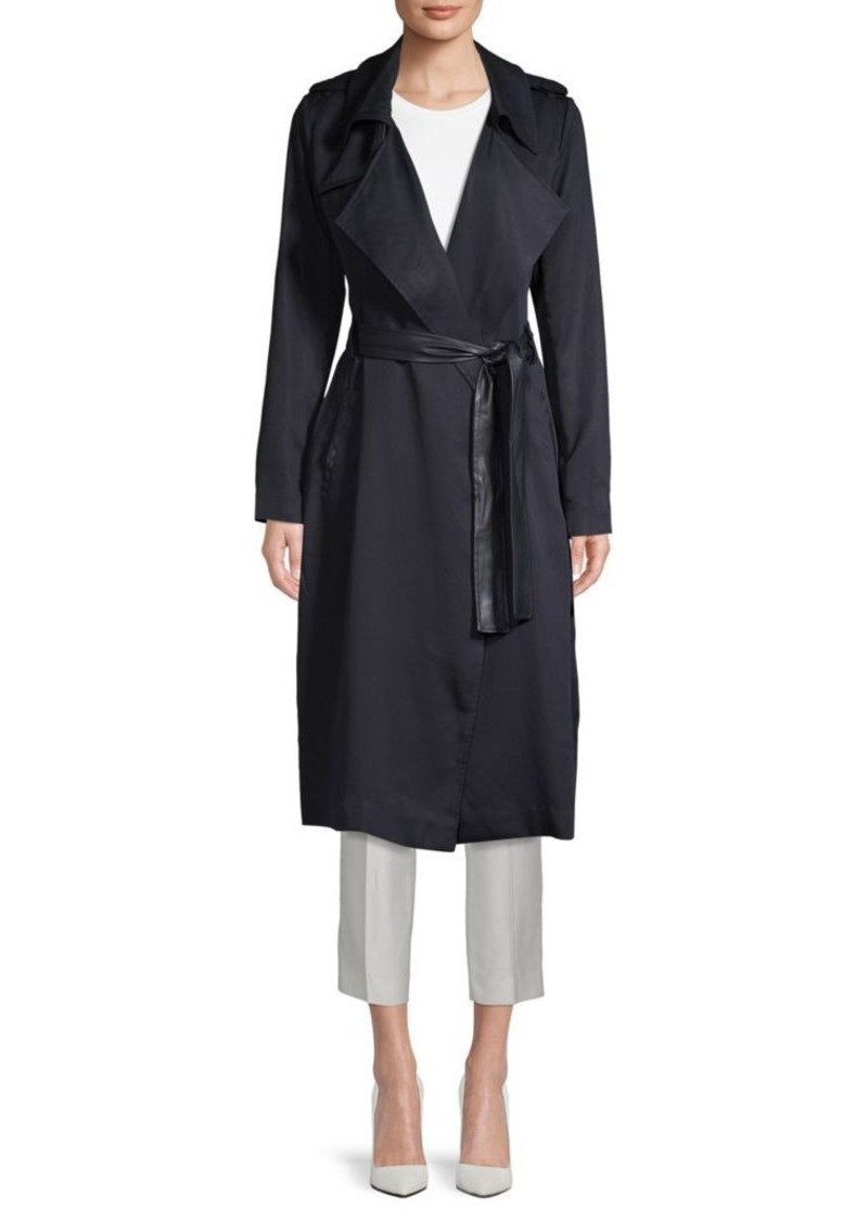Angelina Solid Trench Coat
