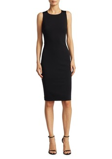 Badgley Mischka Back Bow Detail Sheath Dress