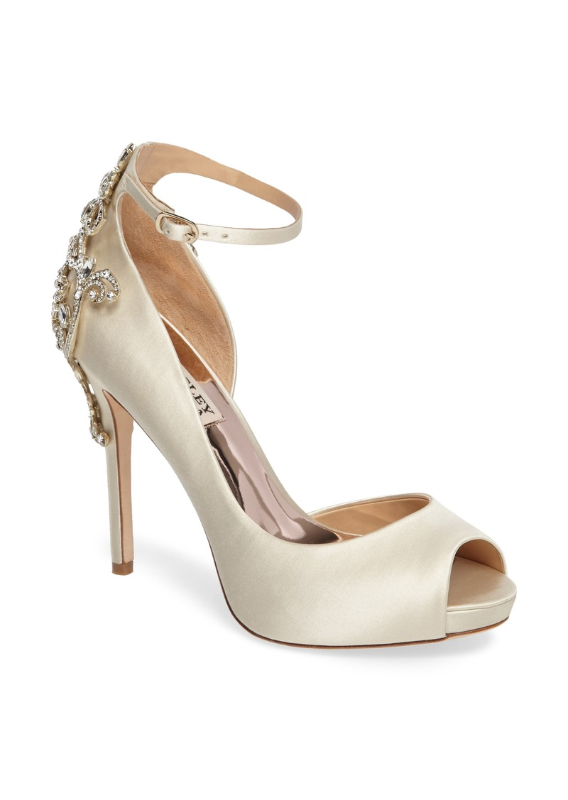 Badgley Mischka Badgley Micshka Karson Embellished Peep Toe Pump (Women)