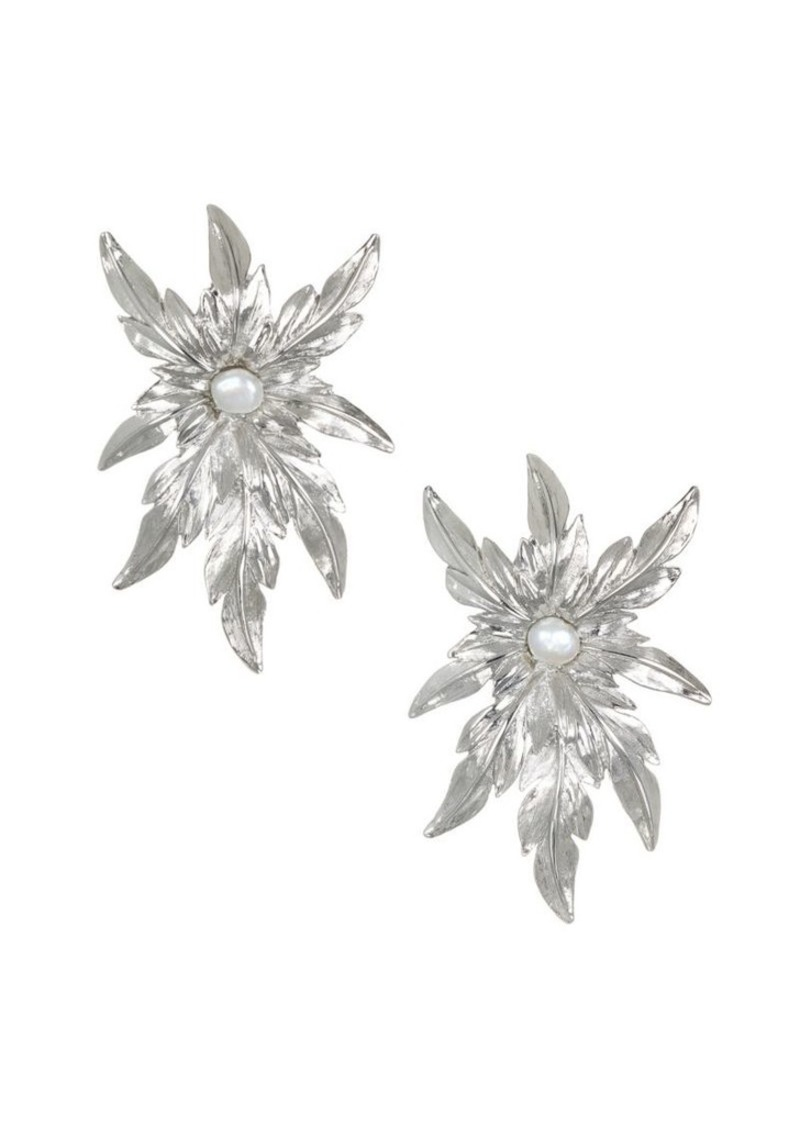 Badgley Mischka Badgley Mischka 6 7mm White Pearl Flower Earrings