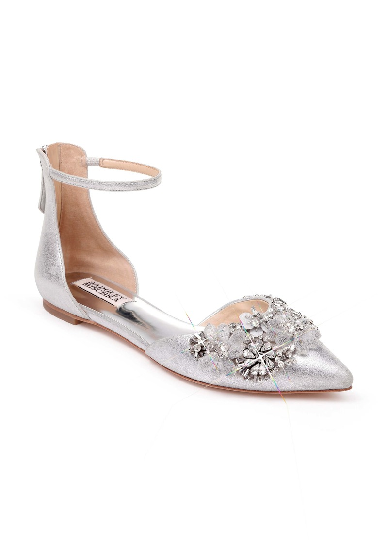 Badgley Mischka Abby Ankle Strap Flat (Women)