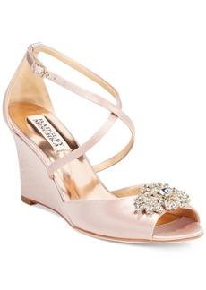 Badgley Mischka Abigail Evening Wedge Sandals Women's Shoes