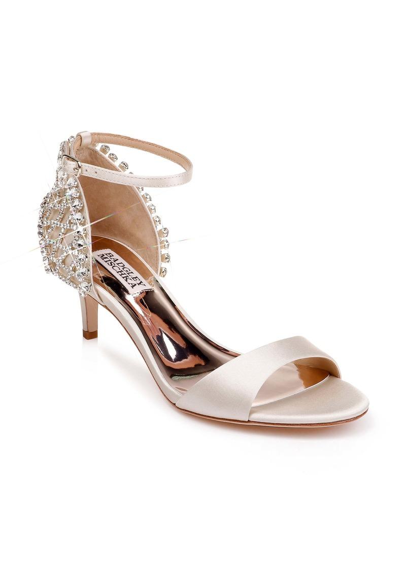 Badgley Mischka Adora Embellished Kitten Heel Sandal (Women)