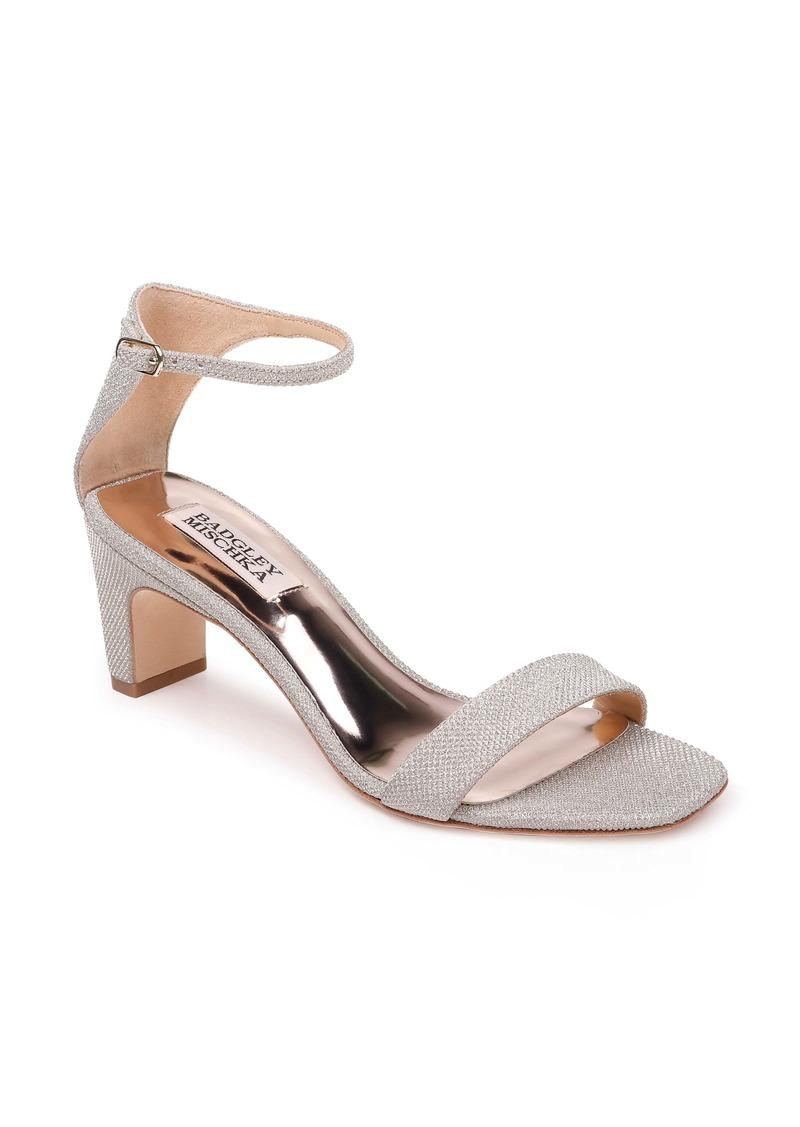 Badgley Mischka Aida Metallic Ankle Strap Sandal (Women)