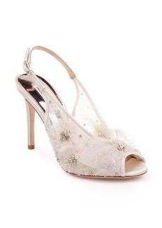 Badgley Mischka Aimee Crystal Embellished Slingback Sandal (Women)