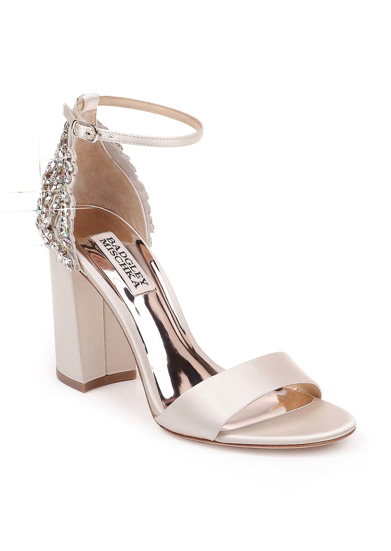 Badgley Mischka Ainsley Crystal Embellished Ankle Strap Sandal (Women)