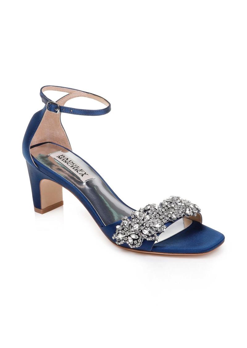 Badgley Mischka Alison Crystal Embellished Ankle Strap Sandal (Women)