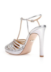 Badgley Mischka Angelica Metallic T-Strap Sandal (Women)