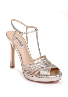 Badgley Mischka Angelica Metallic T-Strap Sandal (Women)