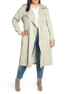 Badgley Mischka Angelina Trench Coat (Plus Size)