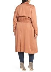 Badgley Mischka Angelina Trench Coat (Plus Size)