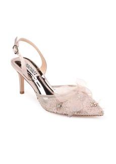 Badgley Mischka Angeline Crystal Embellished Slingback Pump (Women)