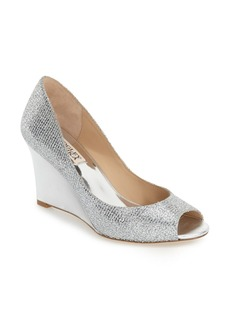 Badgley Mischka 'Awake' Embellished Peep Toe Wedge Pump (Women)