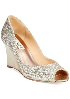 Badgley Mischka Awake Evening Wedge Pumps Women's Shoes