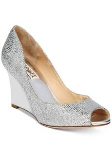 Badgley Mischka Awake Evening Wedge Pumps Women's Shoes