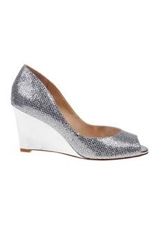 Badgley Mischka Awake Glitter Wedge Heel Shoes