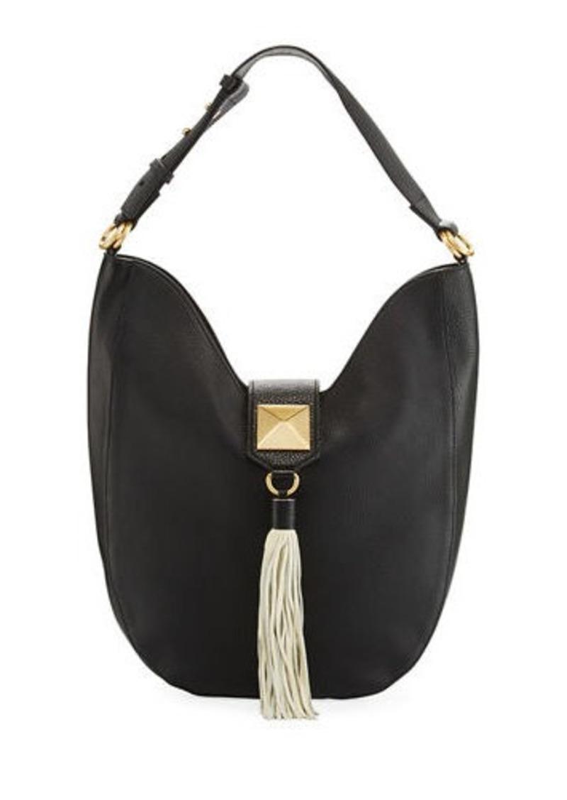 Badgley Mischka Bailey Pebbled Leather Hobo Bag