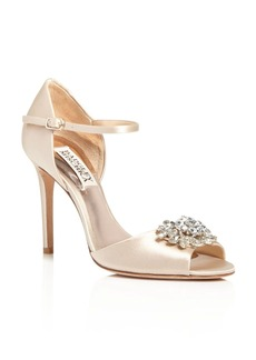 Badgley Mischka Bandera Embellished Ankle Strap High Heel Sandals