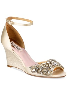 Badgley Mischka Barbara Evening Wedge Sandals Women's Shoes