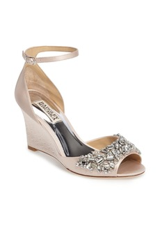 Badgley Mischka Barbara Wedge Sandal (Women)