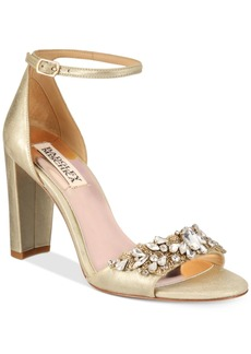 Badgley Mischka Barby Ankle-Strap Evening Sandals Women's Shoes