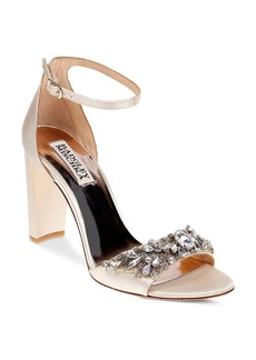 Badgley Mischka Barby Embellished Ankle Strap High Heel Sandals