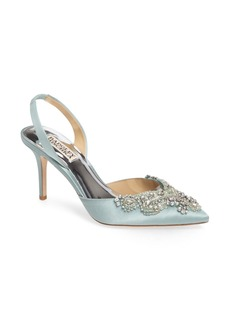 Badgley Mischka Barnes Crystal Embellished Slingback Pump (Women)