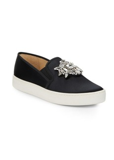 Badgley Mischka Barre Embellished Slip-On Sneakers