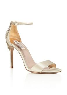 Badgley Mischka Bartley Embellished Ankle Strap High Heel Sandals