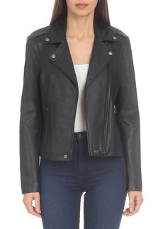 Badgley Mischka Basic Leather Biker Jacket