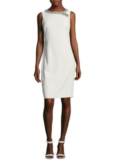 Badgley Mischka Beaded Sheath Dress