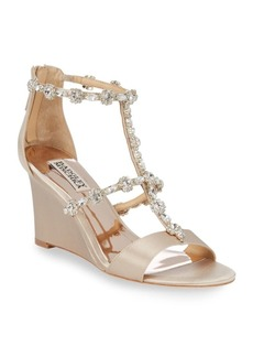 Badgley Mischka Bejewled Metallic Sandals