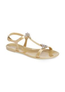 Badgley Mischka Belize Crystal Embellished Flat Sandal (Women)