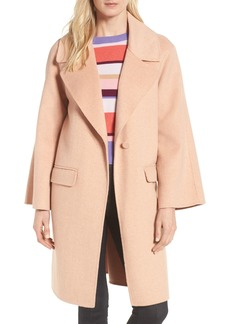 Badgley Mischka Bell Sleeve Double Face Coat