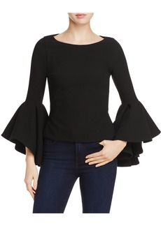 Badgley Mischka Bell-Sleeve Top