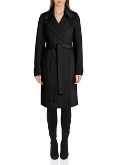 Badgley Mischka Belted Wrap Coat