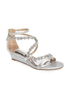 Badgley Mischka Belvedere Embellished Wedge Sandal (Women)
