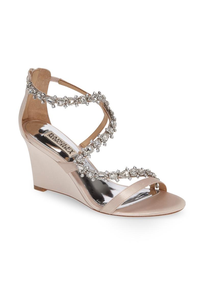 Badgley Mischka Bennet Embellished Wedge Sandal (Women)