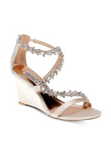 Badgley Mischka Bennet Embellished Wedge Sandals