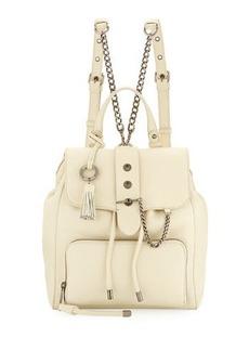 Badgley Mischka Beulah Leather Drawstring Backpack