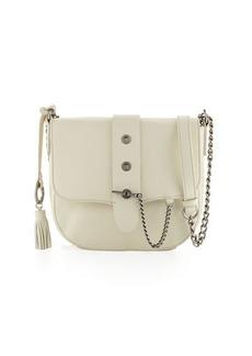 Badgley Mischka Beulah Leather w/Chain Saddle Bag