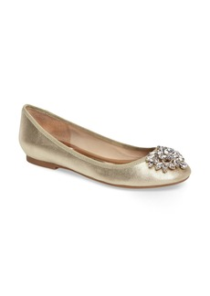Badgley Mischka Bianca Embellished Ballet Flat (Women)
