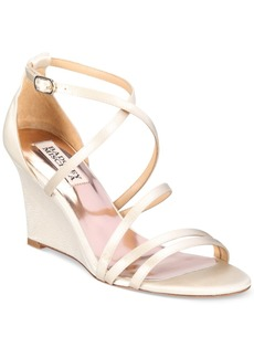Badgley Mischka Bonanza Strappy Wedge Evening Sandals Women's Shoes