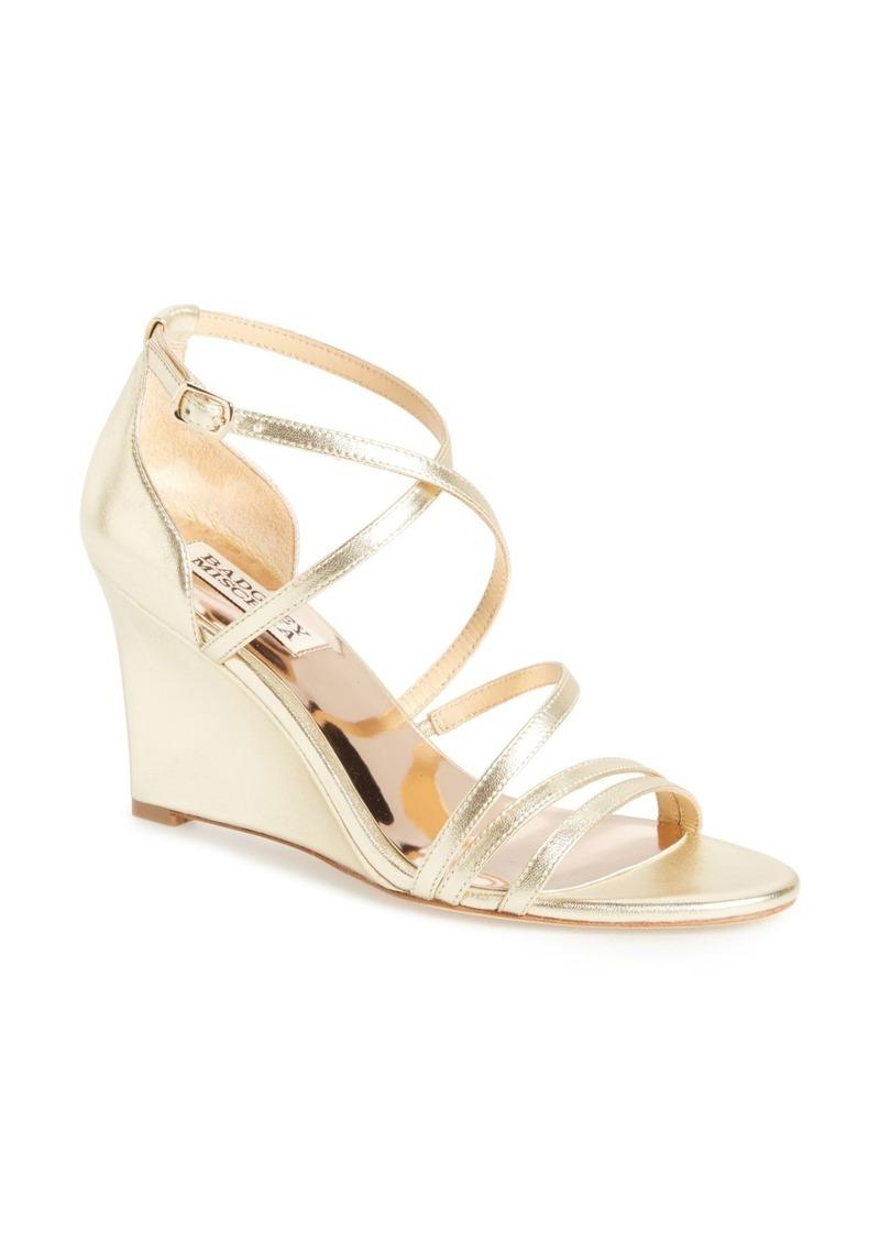 Badgley Mischka Bonanza Strappy Wedge Sandal (Women)