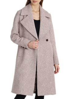 Badgley Mischka Boucle Notch Collar Coat