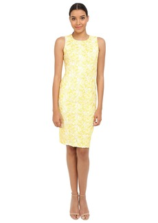 Badgley Mischka Butterfly Lace Sheath Dress