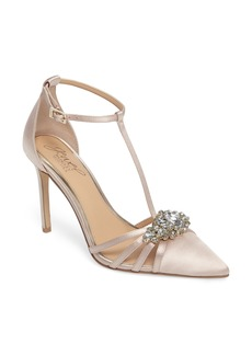 Badgley Mischka Cabo Embellished Pointy Toe Pump (Women)