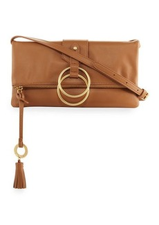 Badgley Mischka Campaign Fold-Over Clutch Bag